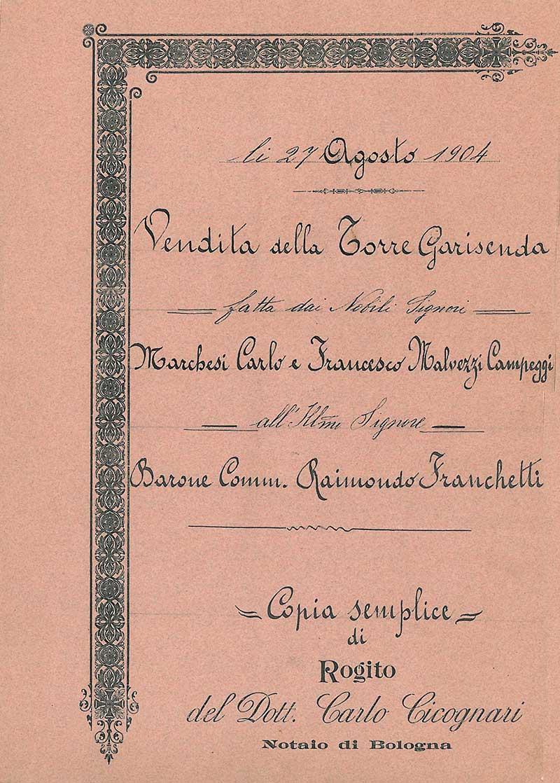 copertina rogito Garisenda
