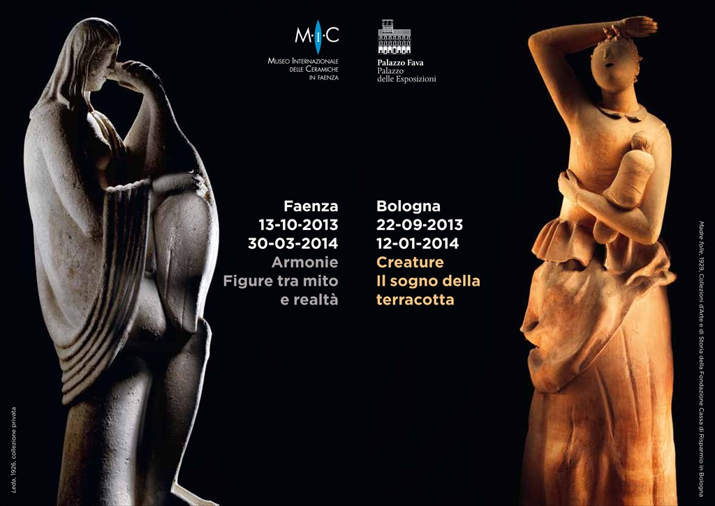 """""""Arturo Martini. Creature, il sogno della terracotta"""" a Palazzo Fava, Bologna."""
