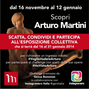 Scopri Arturo Martini. Il nuovo challenge instagram di Genus Bononiae e Instagramers Italia