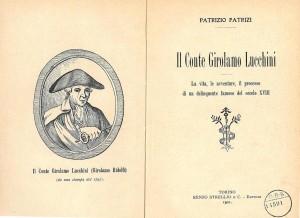 """Il Conte Girolamo Lucchini: il """"ladro del Monte"""""""