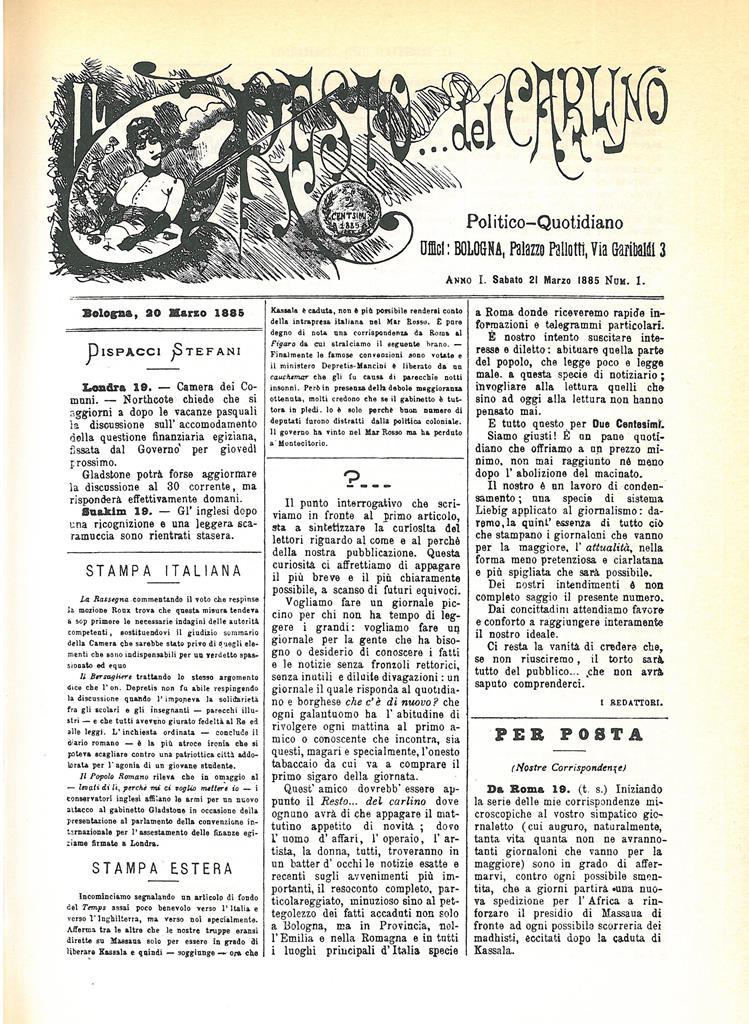 Il Resto del Carlino 21.3.1885