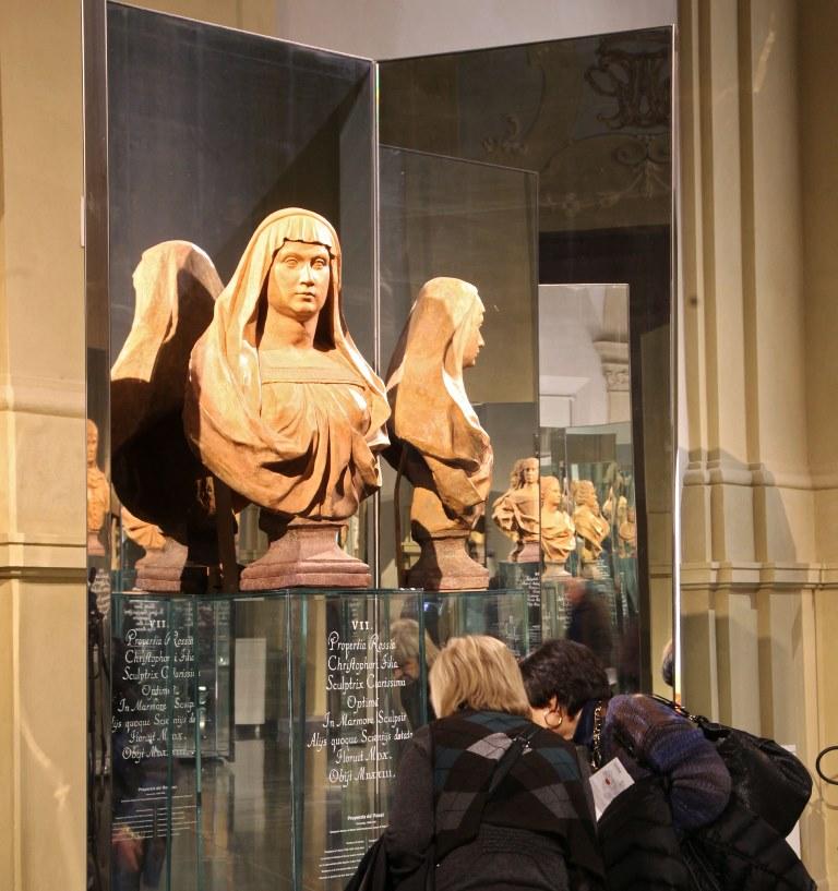 Properzia de' Rossi, busto in terracotta, Sala della Cultura - Museo della Storia di Bologna a Palazzo Pepoli