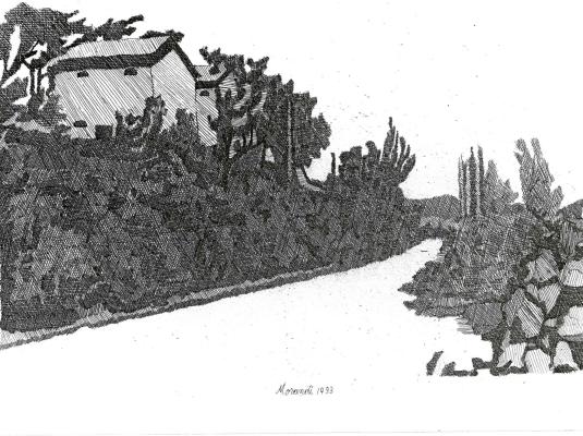 La strada bianca di Giorgio Morandi