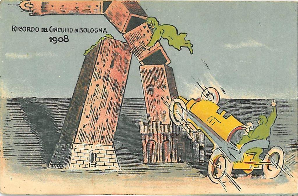 caricatura con Torre Asinelli