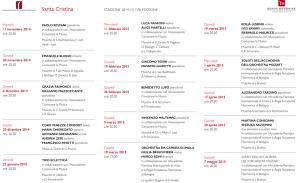 Stagione Concertistica 2014-2015 di Santa Cristina