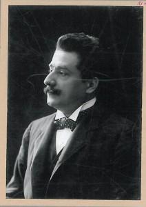 Alfredo Testoni, ritratto con autografo