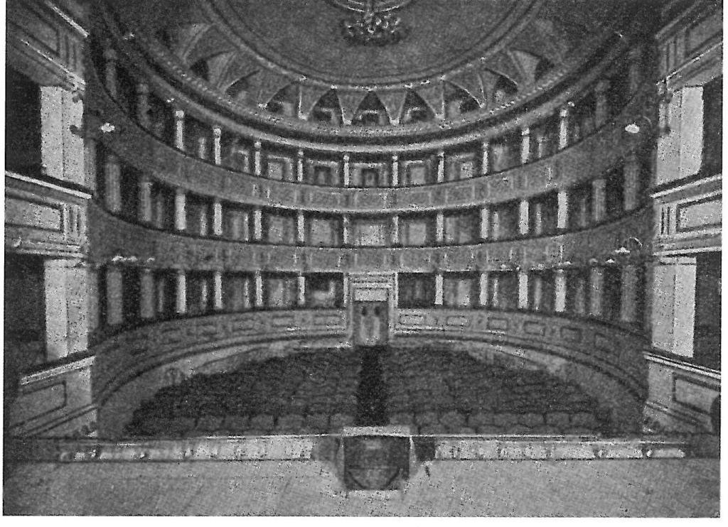 Teatro Contavalli, interno, 1909