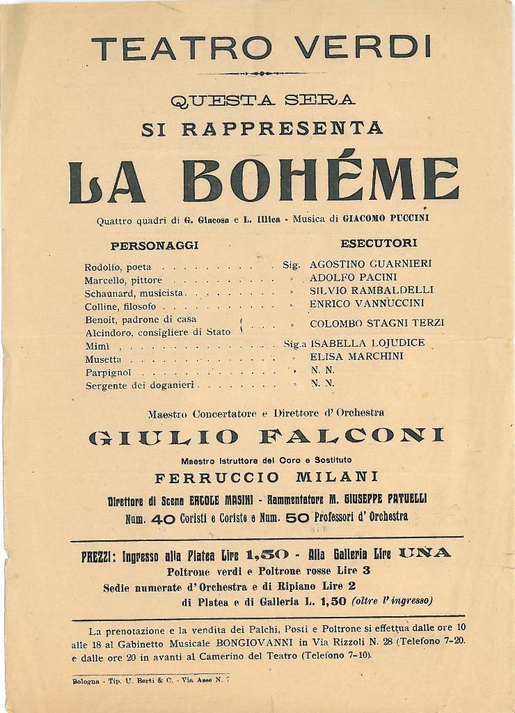 Teatro Verdi, la Boheme
