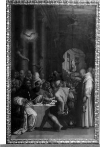 Bologna - R. Pinacoteca (Vasari Giorgio) La Cena di S. Gregorio Magno - Fotografia di Pietro Poppi