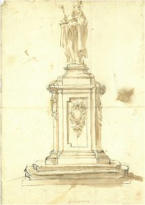disegno-statua-e-piedistallo-san-petronio