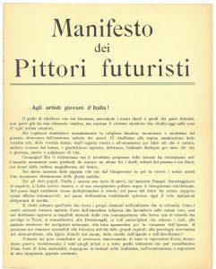 manifesto pittori futuristi 1